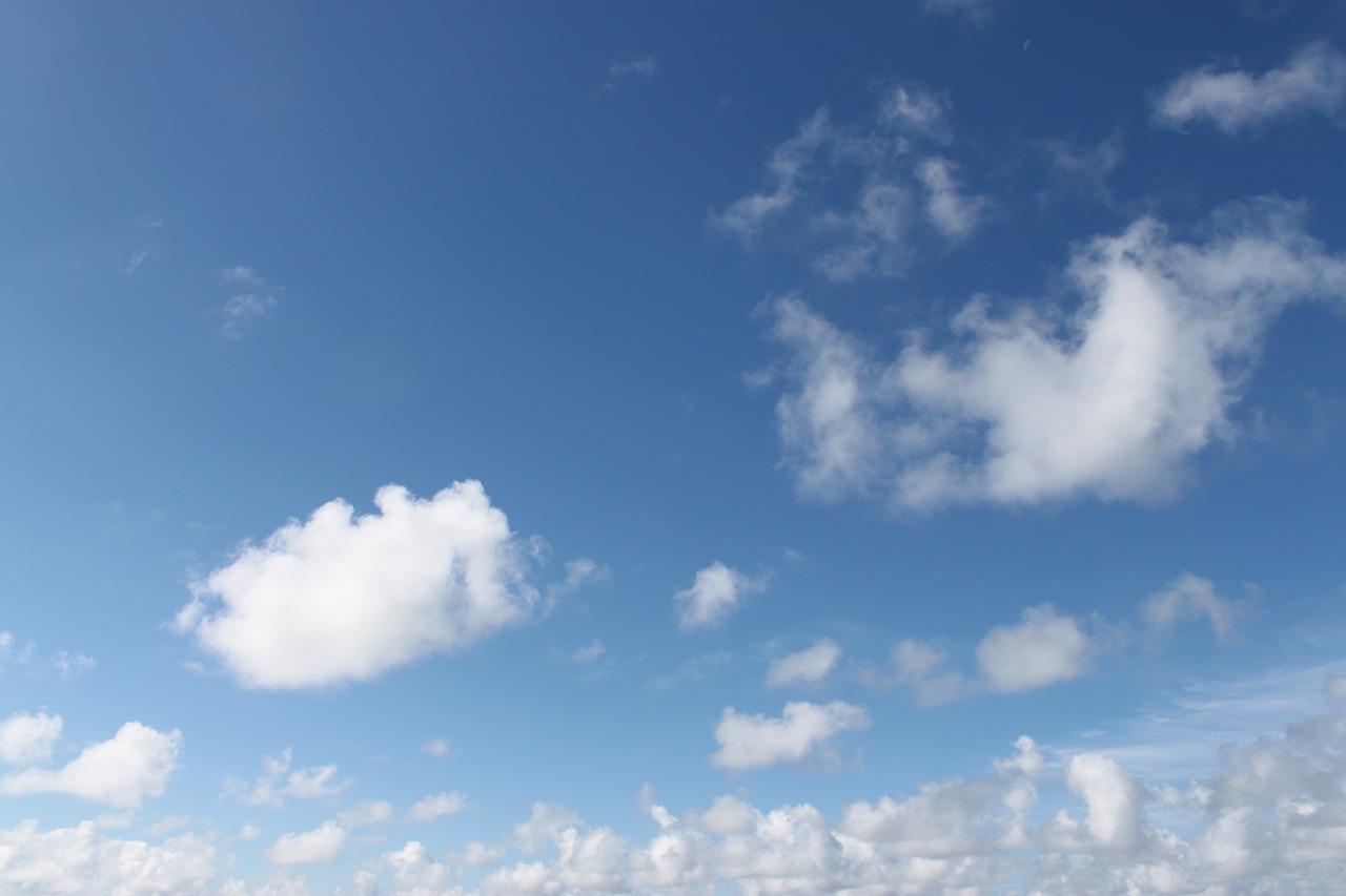 45. 冬の高知の空は青空