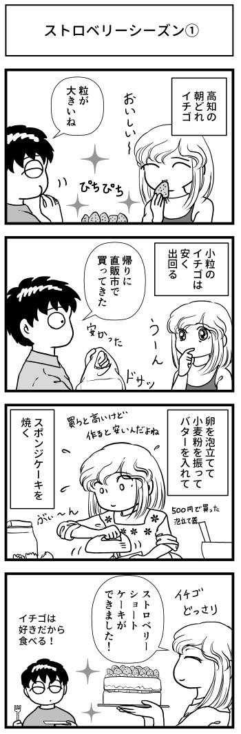 イチゴ ケーキ ショートケーキ とさくら 高知 マンガ ブログ