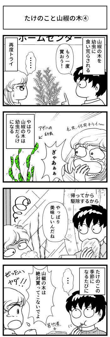 たけのこ 山椒 山椒の木 春 マンガ とさくら 高知 四国 ブログ Tosakura