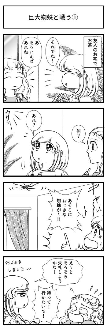 蜘蛛 クモ 巨大 大蜘蛛 高知 とさくら Tosakura マンガ ブログ 四国